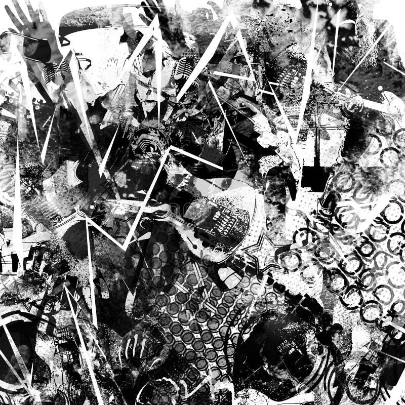 Colagem abstrata da música ilustração do vetor