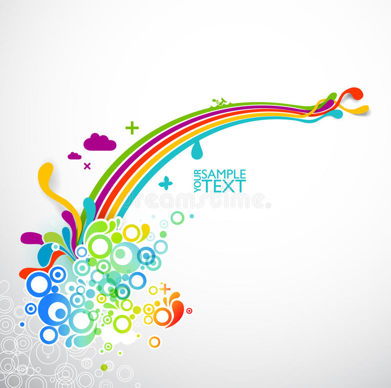 Colagem abstrata do arco-íris ilustração do vetor