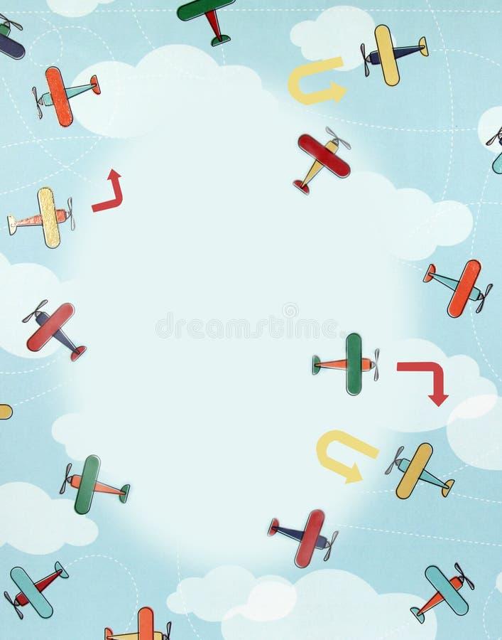 Colagem, aviões ilustração royalty free