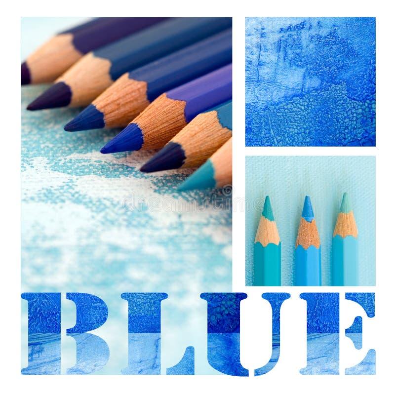 Colagem azul ilustração stock