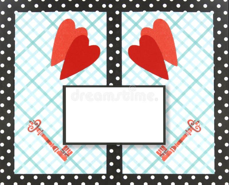 Colagem, cartão do Valentim ilustração do vetor