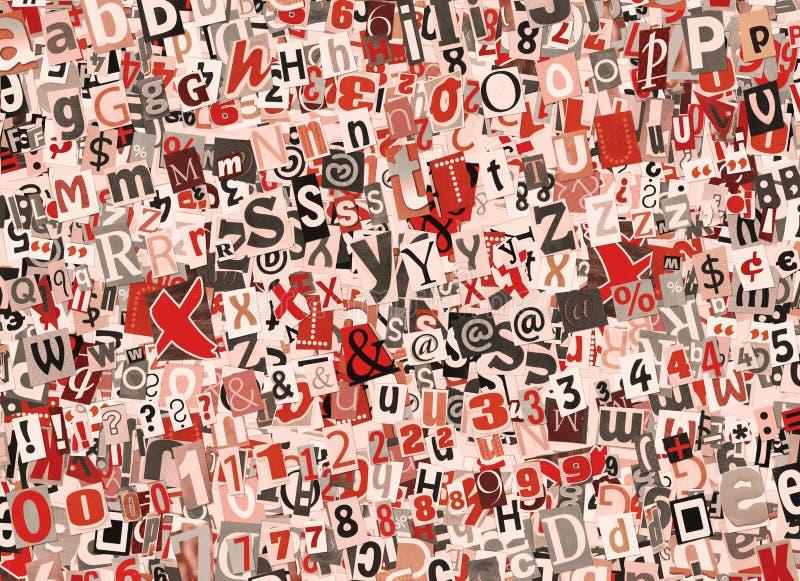 Colagem colorida das letras ilustração royalty free