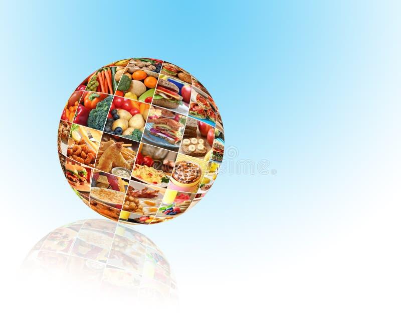 Colagem colorida do alimento fotos de stock