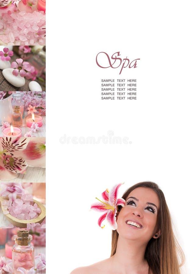 Colagem cor-de-rosa dos termas imagens de stock