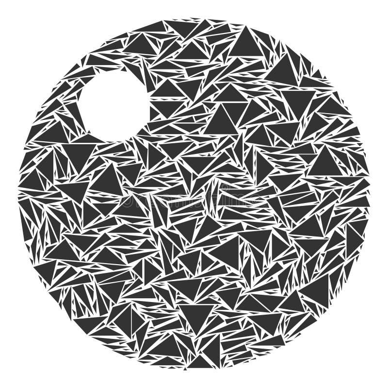 Colagem da esfera dos triângulos ilustração stock