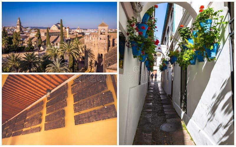 Colagem da Espanha bonita Europa de Córdova imagem de stock royalty free