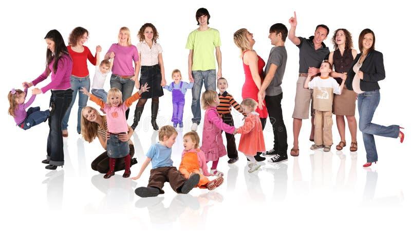 Colagem da família imagens de stock