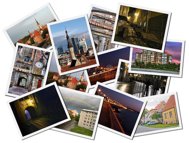 Colagem da foto de Tallinn foto de stock
