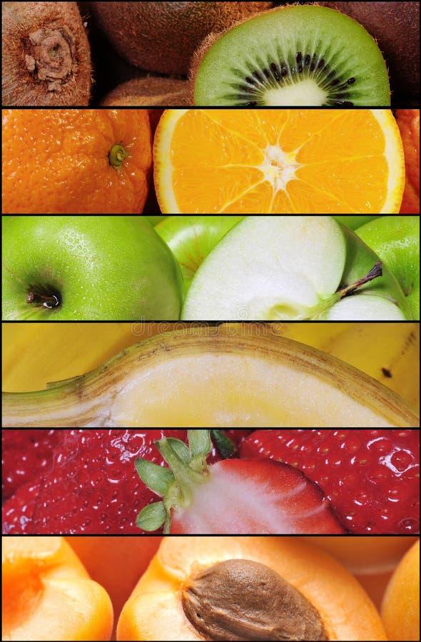 Colagem da fruta imagens de stock royalty free