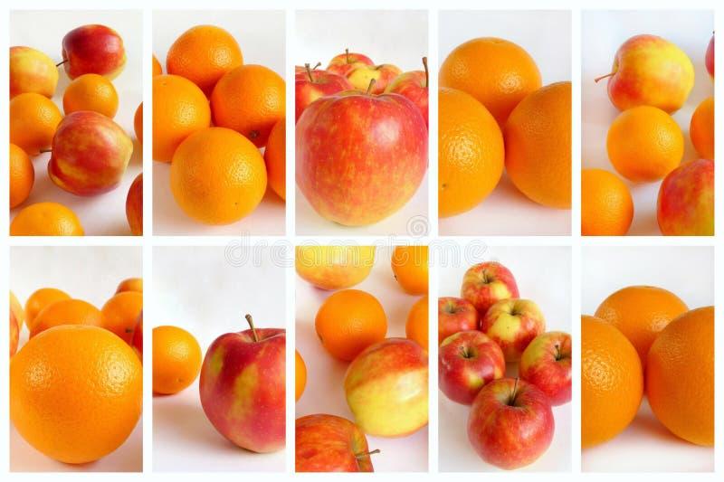 Colagem da fruta imagem de stock royalty free