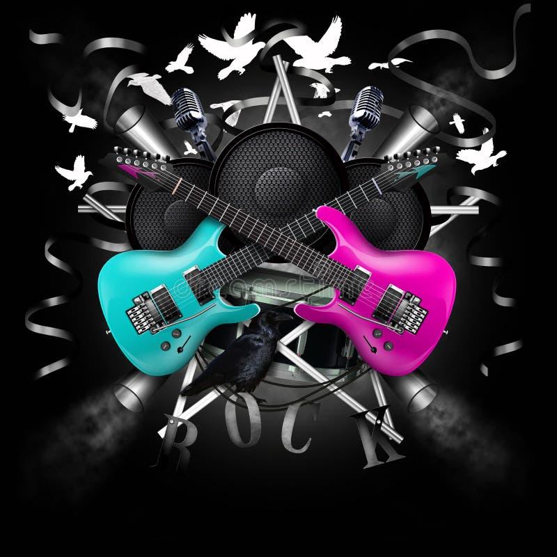 Colagem da música ilustração do vetor