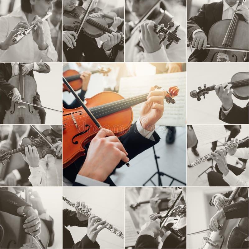Colagem da música clássica imagem de stock