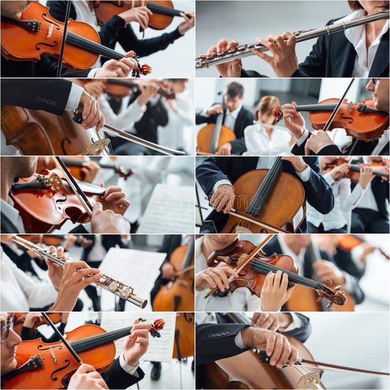 Colagem da música clássica foto de stock royalty free