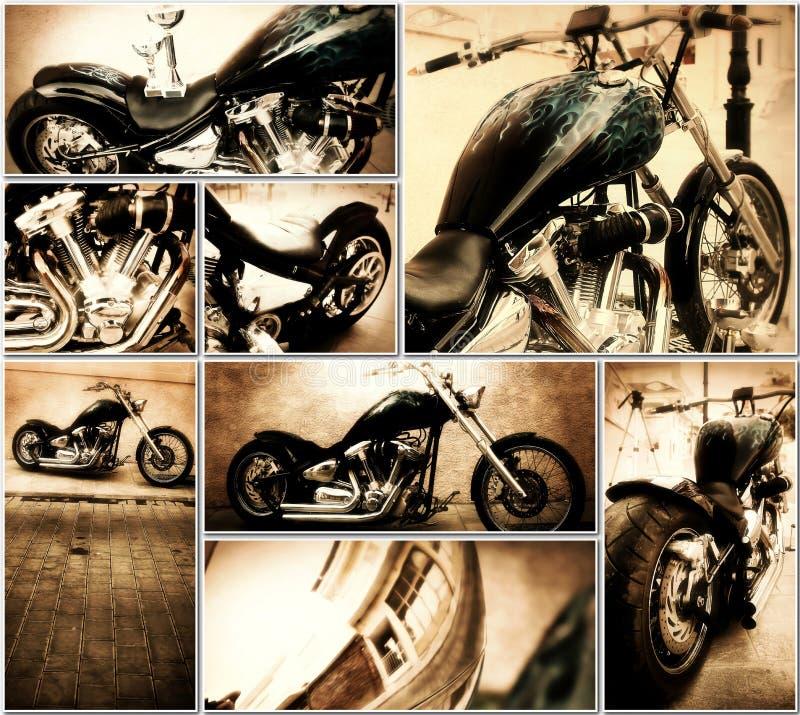 Colagem da motocicleta foto de stock royalty free
