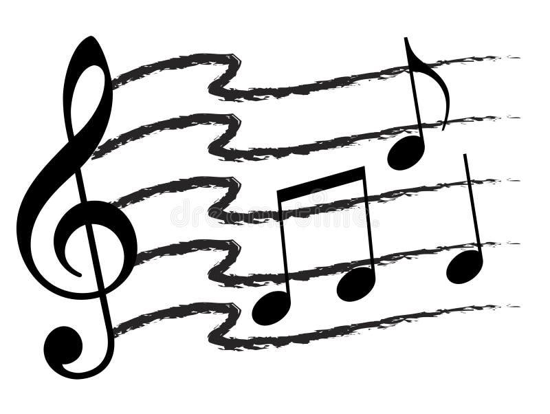 Colagem da nota da música ilustração do vetor
