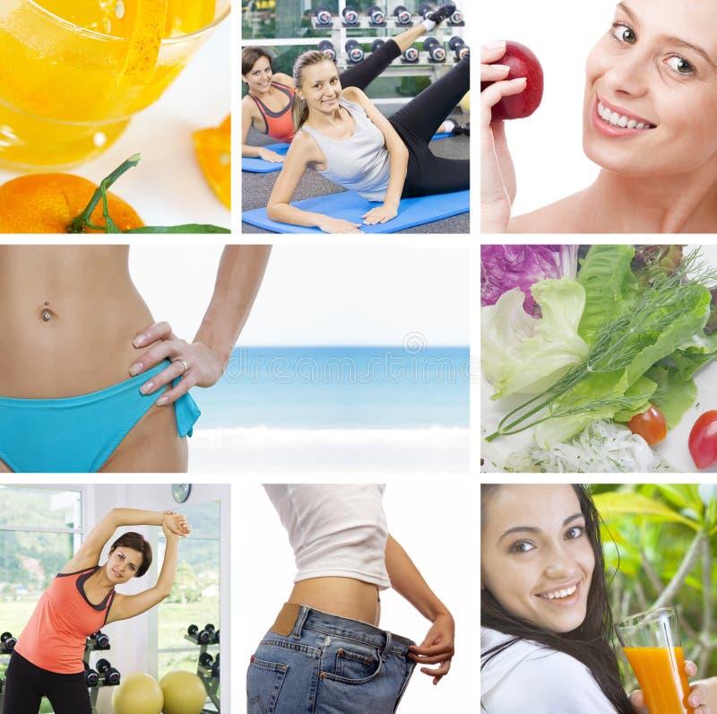 Colagem da saúde imagens de stock