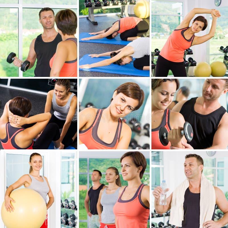 Colagem da saúde fotografia de stock