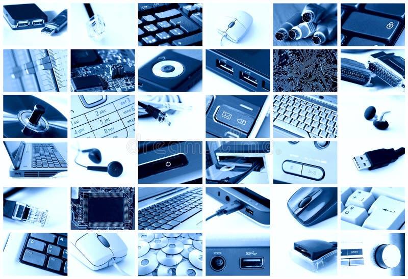 Colagem da tecnologia fotos de stock royalty free