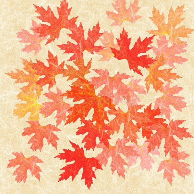 Colagem das folhas de outono ilustração do vetor
