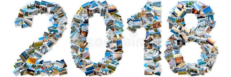 Colagem das fotos do curso que fazem 2018 fotos de stock