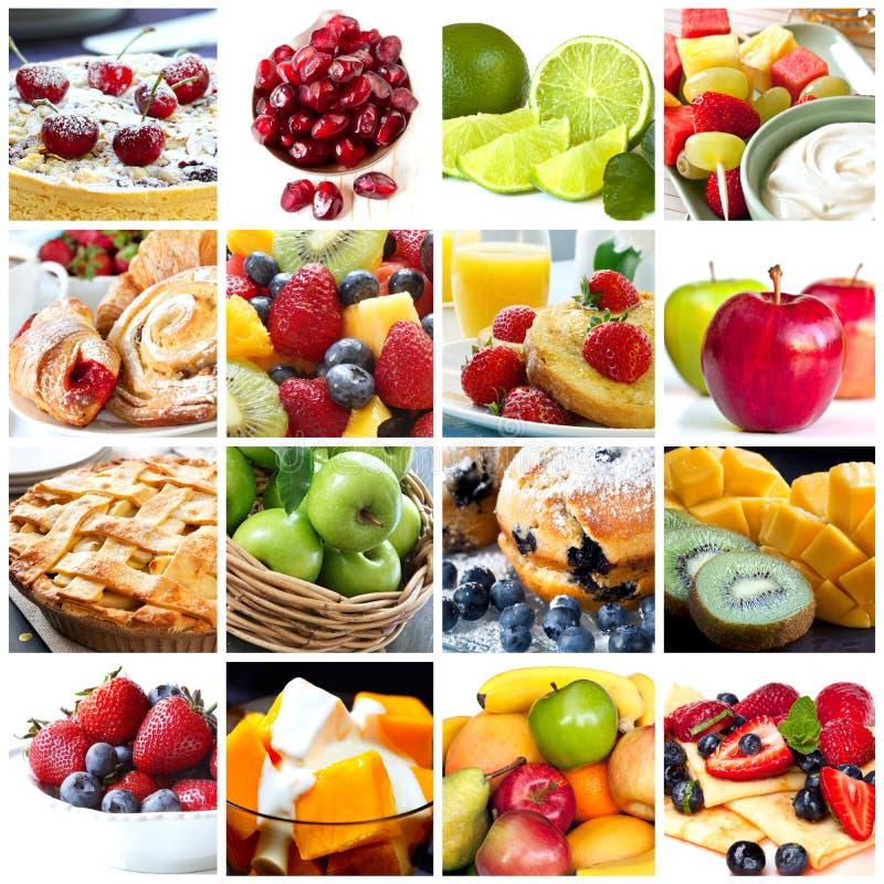 Colagem das frutas fotografia de stock