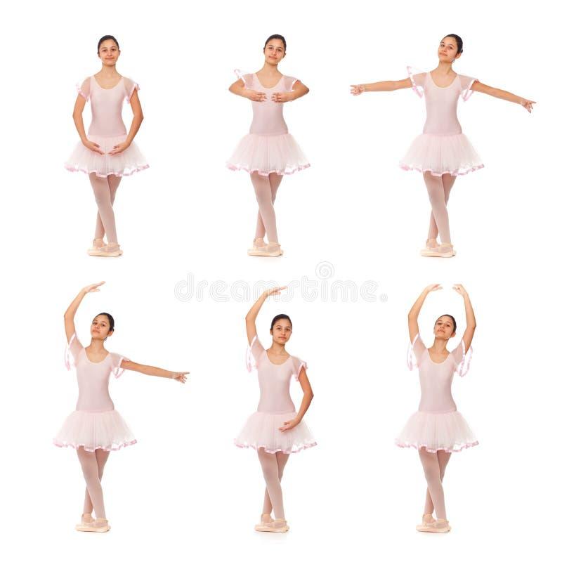 Colagem das posições do balé clássico imagens de stock royalty free