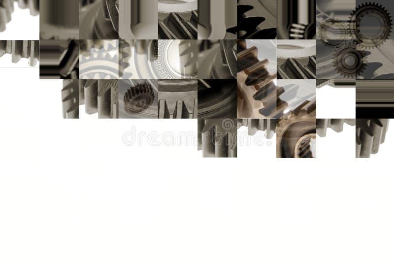Colagem das rodas denteadas foto de stock royalty free