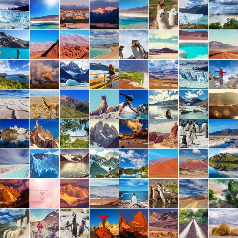 Colagem de Argentina imagens de stock