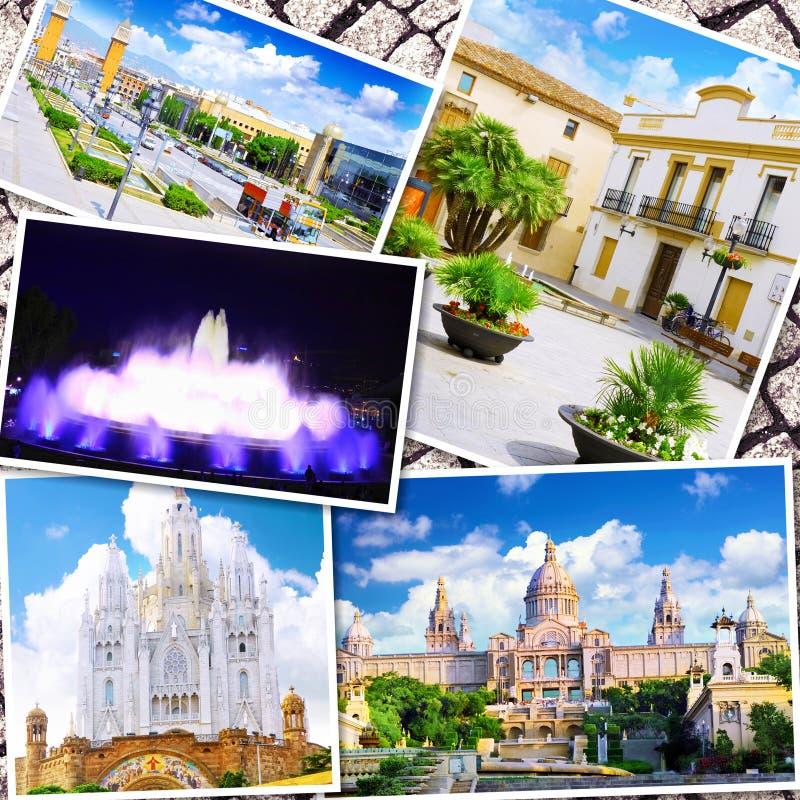 Colagem de Barcelona bonita imagem de stock royalty free