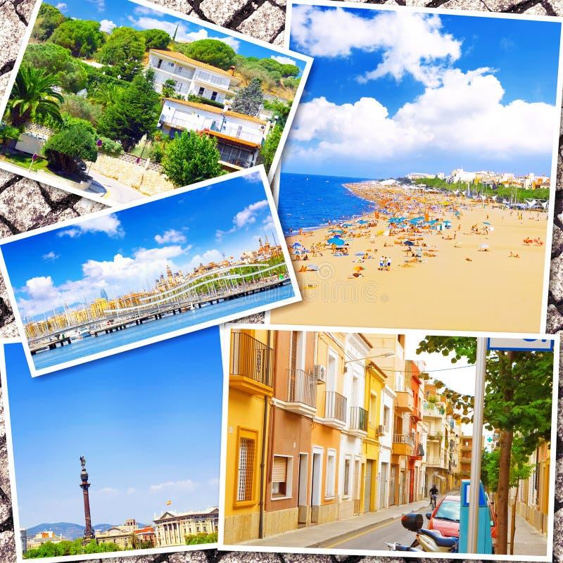 Colagem de Barcelona bonita fotos de stock royalty free