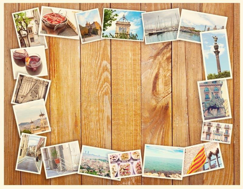 Colagem de Barcelona, cartão fotos de stock royalty free