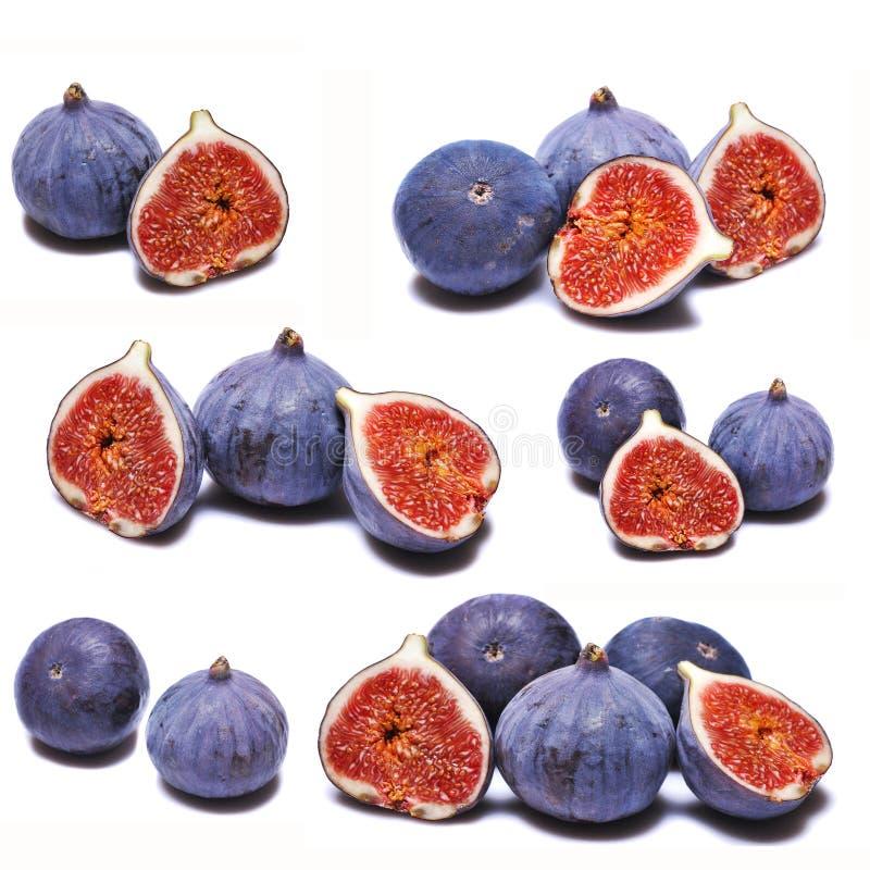 Colagem de figos frescos imagem de stock royalty free