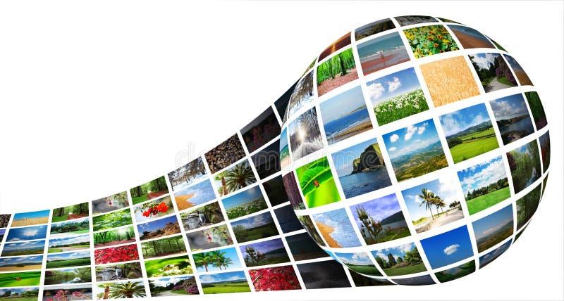 Colagem de fotos da natureza imagem de stock