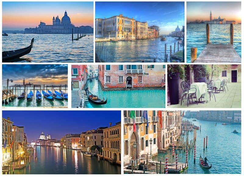Colagem de fotos de Veneza imagens de stock