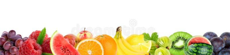 Colagem de frutos misturados Frutos frescos da cor imagem de stock royalty free