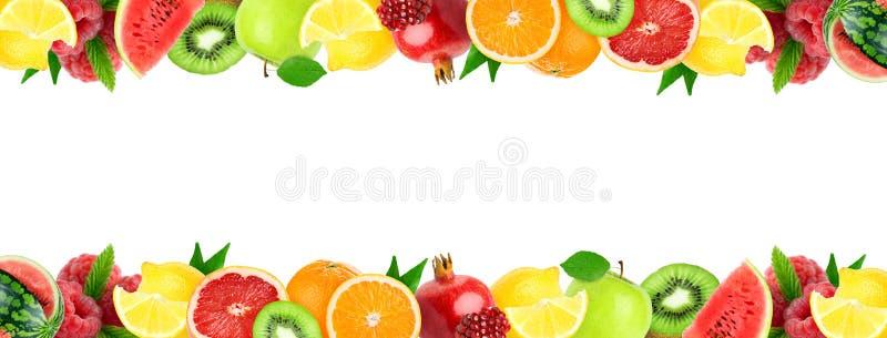 Colagem de frutos misturados Frutos frescos da cor Conceito do alimento fotos de stock