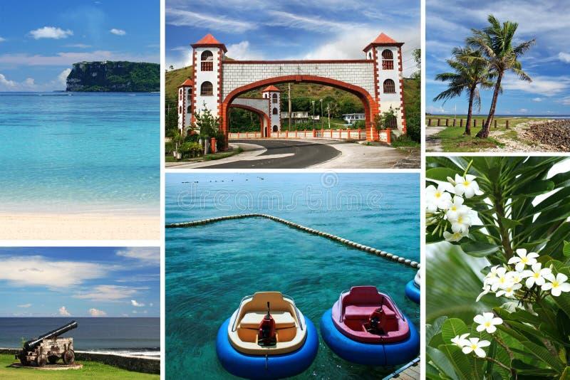 Colagem de Guam foto de stock royalty free