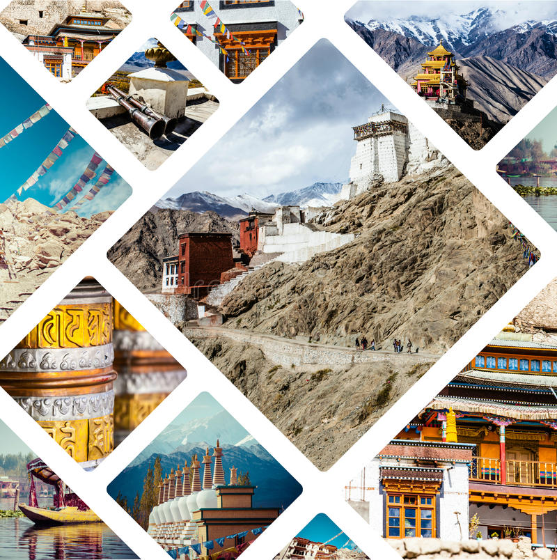 Colagem de imagens da Índia - fundo do curso & x28; meu photos& x29; fotografia de stock royalty free