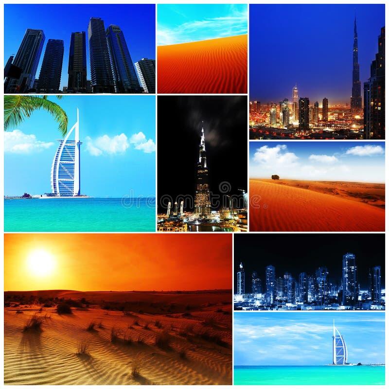 Colagem de imagens de United Arab Emirates imagens de stock royalty free