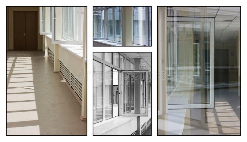 Colagem de indicadores do edifício imagem de stock royalty free