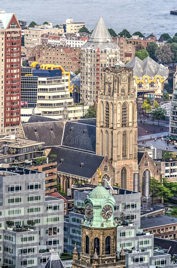 Colagem de marcos de Rotterdam foto de stock
