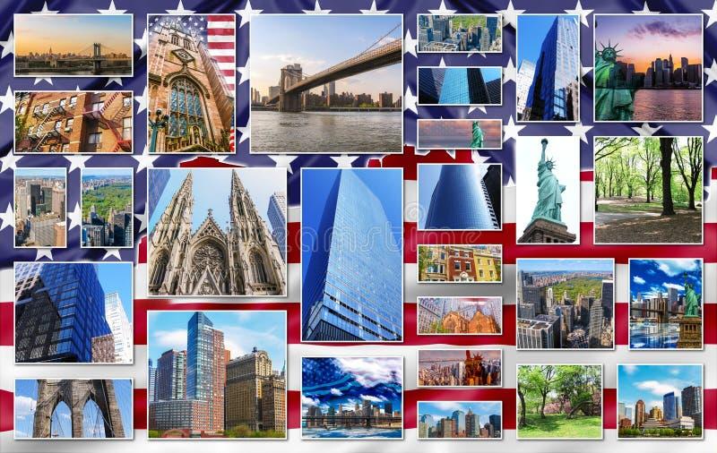 Colagem de New York fotos de stock