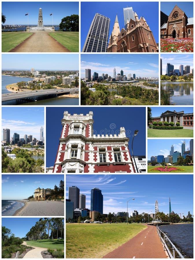 Colagem de Perth fotos de stock