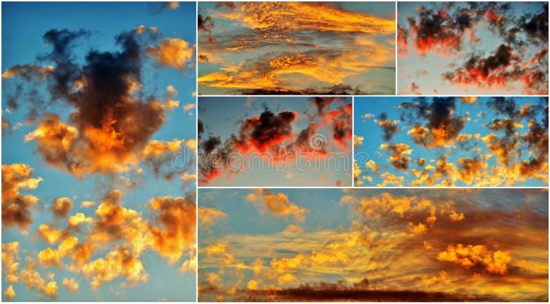 Download Céu africano imagem de stock. Imagem de fundo, sunset - 29844283