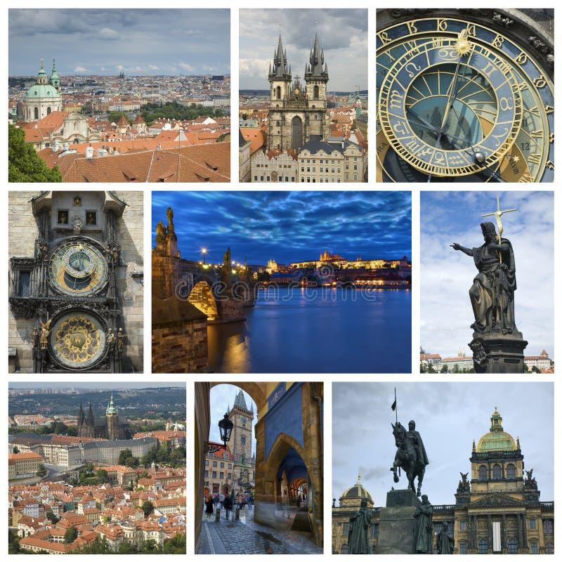 Colagem de Praga fotos de stock royalty free