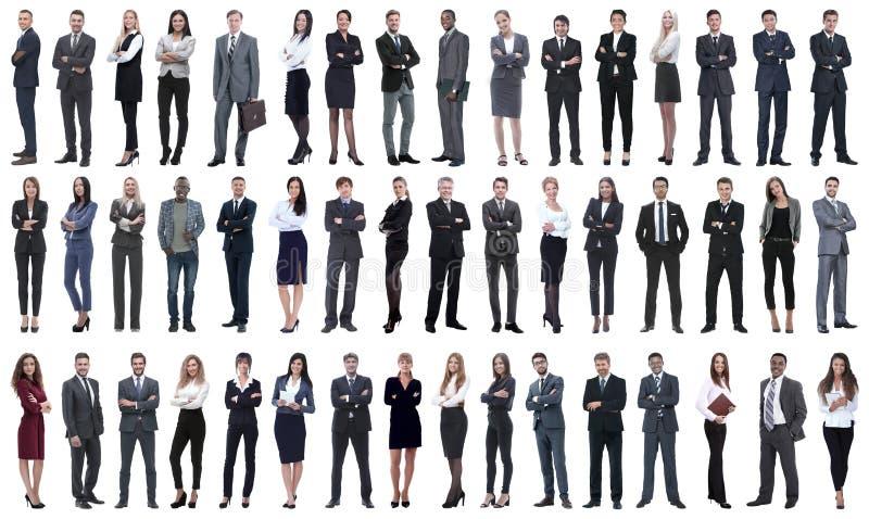 Colagem de uma variedade de executivos que estão em seguido foto de stock royalty free