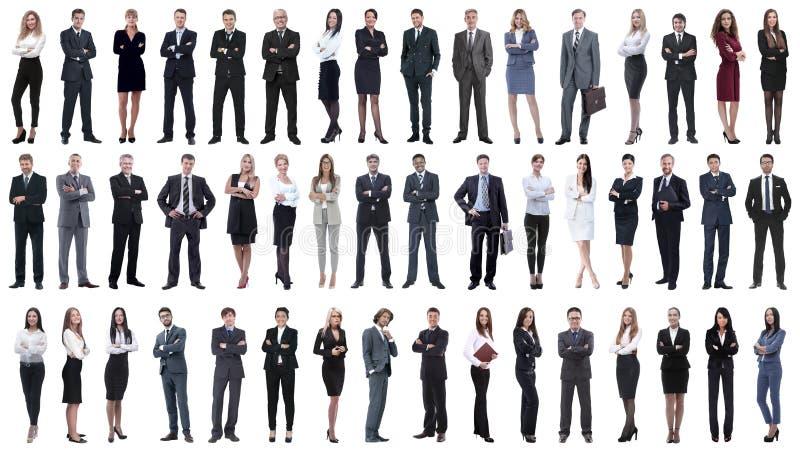 Colagem de uma variedade de executivos que estão em seguido imagem de stock