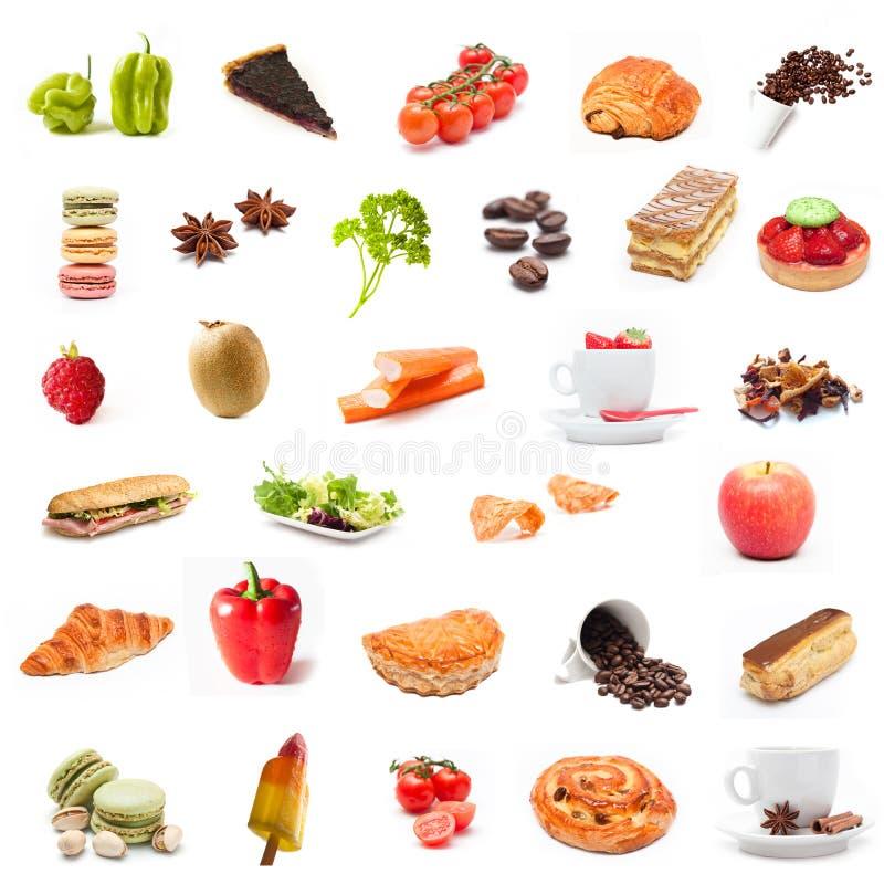 Colagem do alimento dos ingredientes imagem de stock royalty free