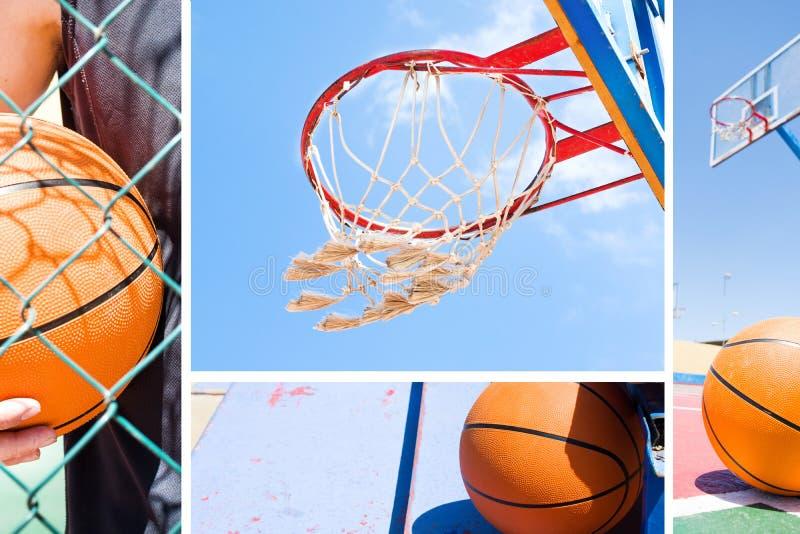 Colagem do basquetebol fotos de stock