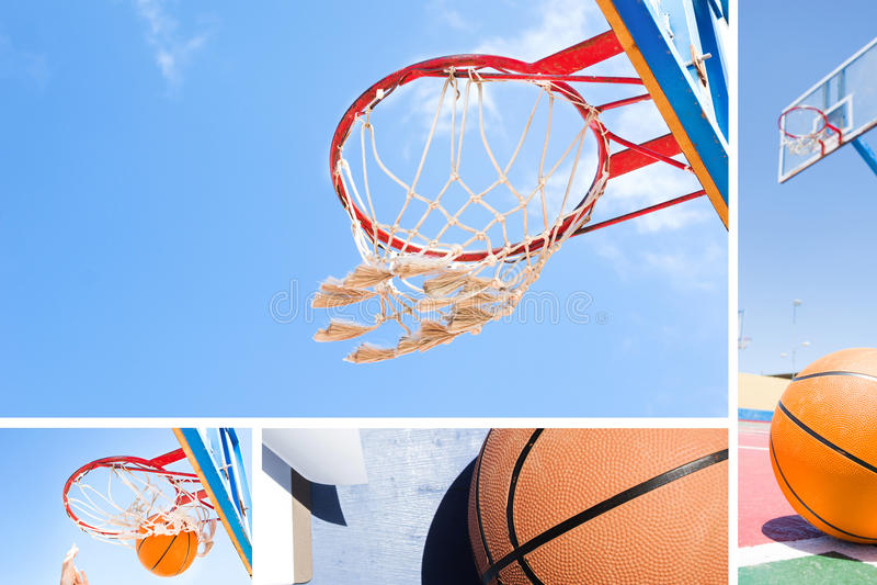 Colagem do basquetebol fotos de stock royalty free